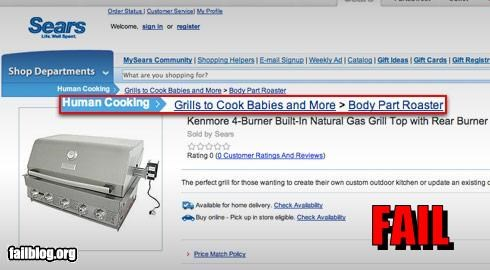 Babies body parts cooking g rated human sears website - 2555106816