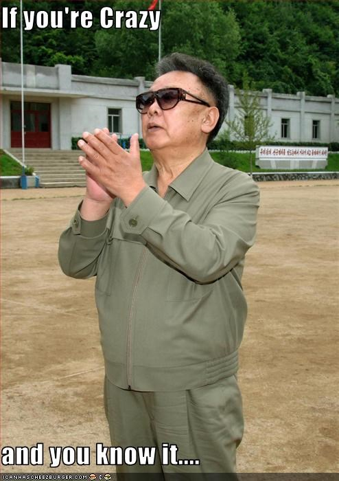crazy dictator Kim Jong-Il North Korea - 2555365376