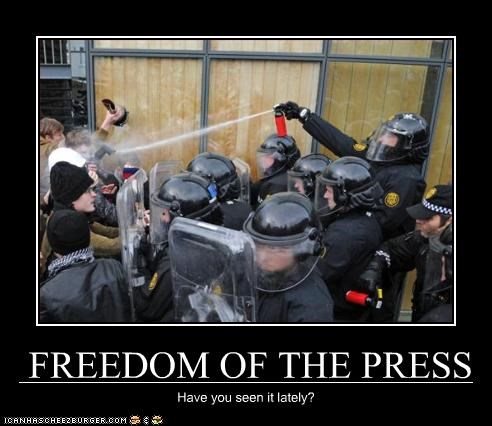 FREEDOM OF THE PRESS Have you seen it lately?