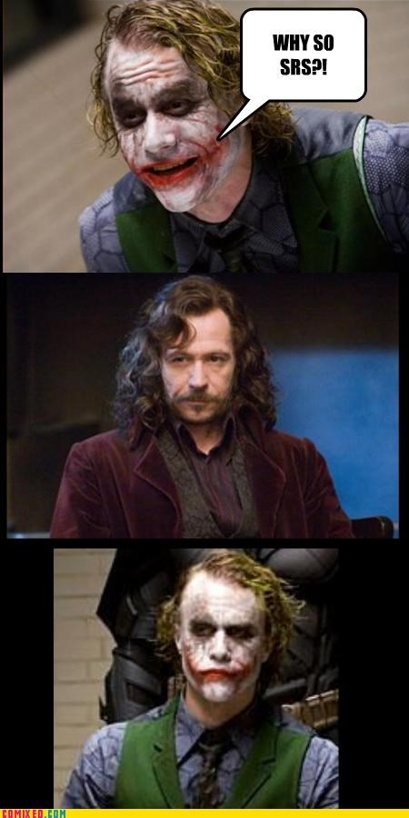 dark knight,Harry Potter,joker,sirius black,why-so-srs