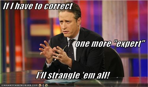 experts,jon stewart,the daily show,TV