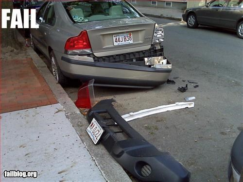 accident bumper g rated hit and run license plate parking space - 2563858432