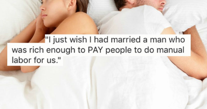 Guys share sad and cringe stories about the moments they were ready to divorce their wives.