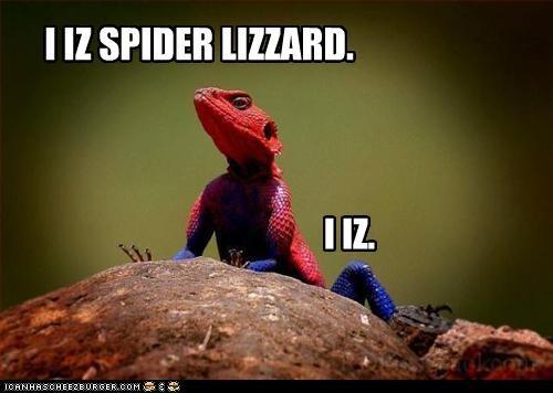 I IZ SPIDER LIZZARD. I IZ.