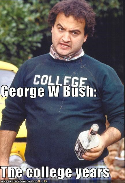 George W Bush The College Years Cheezburger Funny Memes Funny