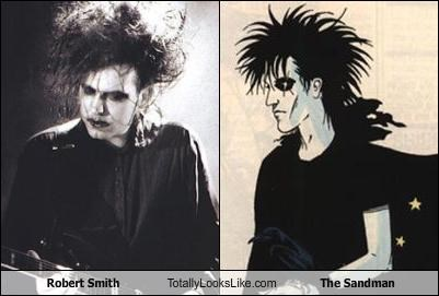 comic books,Music,neil gaiman,robert smith,the cure,the sandman
