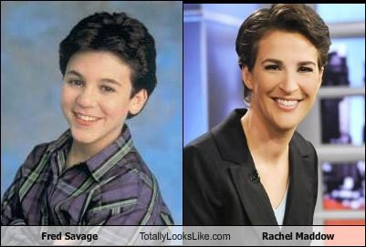 fred savage totally looks like rachel maddow cheezburger funny