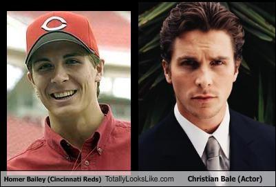 Homer Bailey Cincinnati Reds Totally Looks Like Christian Bale