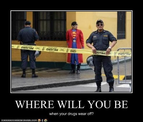 drugs,superheroes,superman