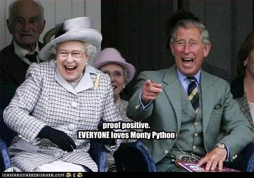 love,monarchy,monty python,prince charles,proof,Queen Elizabeth II,UK