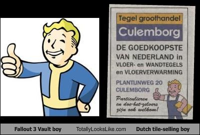 dutch,fallout 3,logo,sales,tile,vault boy,video games