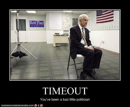 TIMEOUT You've been a bad little politician