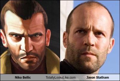 niko bellic totally looks like jason statham cheezburger funny