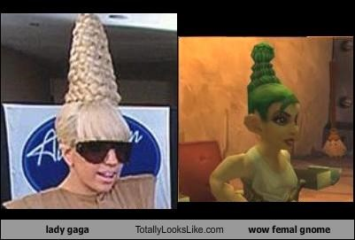 female,gnome,lady gaga,musician,world of warcraft