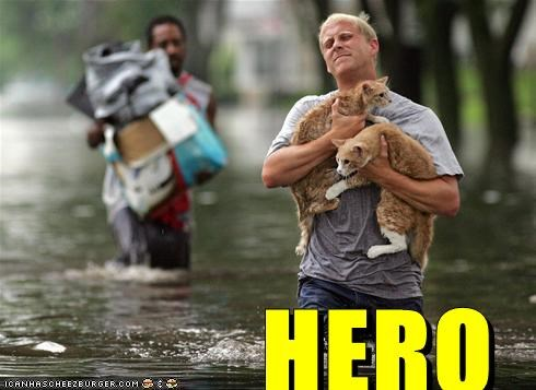 flooding,hero,lolcats,rescue