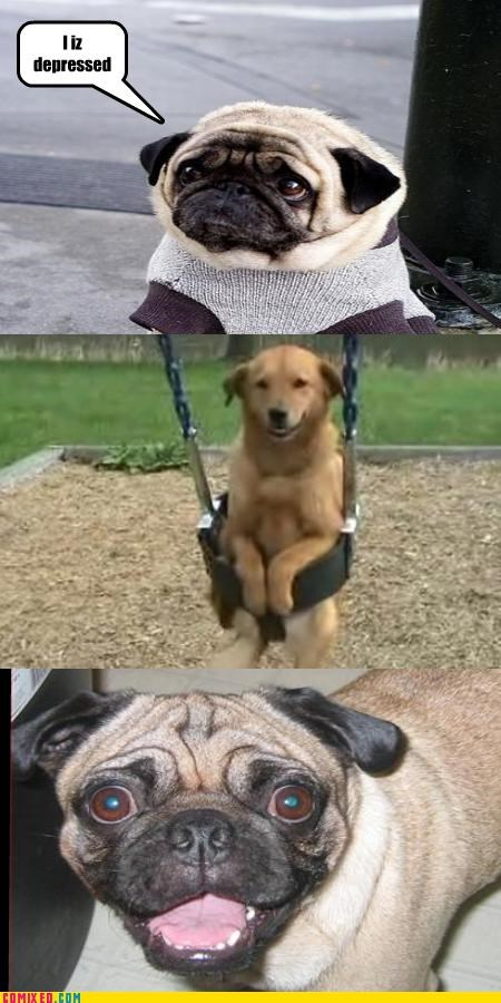 but then i,depression hurts,pug,swing