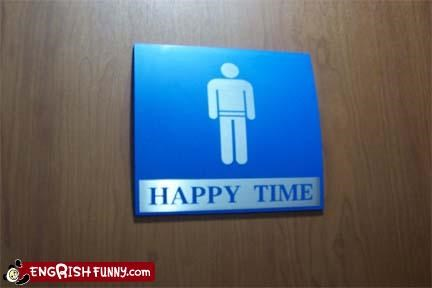 bathroom g rated happy signs time - 2579354112