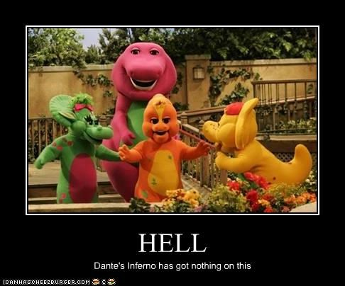 barney childrens tv hell PBS - 2580029696