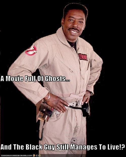 black,ernie hudson,Ghostbusters,movies