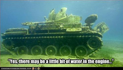military tank underwater - 2580252928