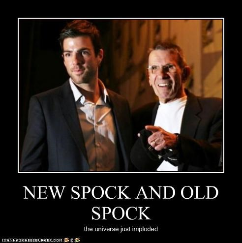 NEW SPOCK AND OLD SPOCK the universe just imploded