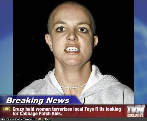 Breaking News Crazy Bald Woman Terrorizes Local Toys R Us
