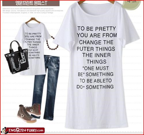 change clothing fashion g rated pretty thing T.Shirt