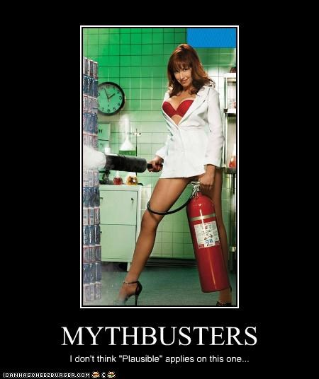 "MYTHBUSTERS I don't think ""Plausible"" applies on this one..."