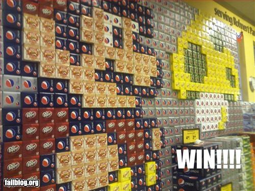 display,g rated,grocery store,mosaic,soda,super mario brothers,video games