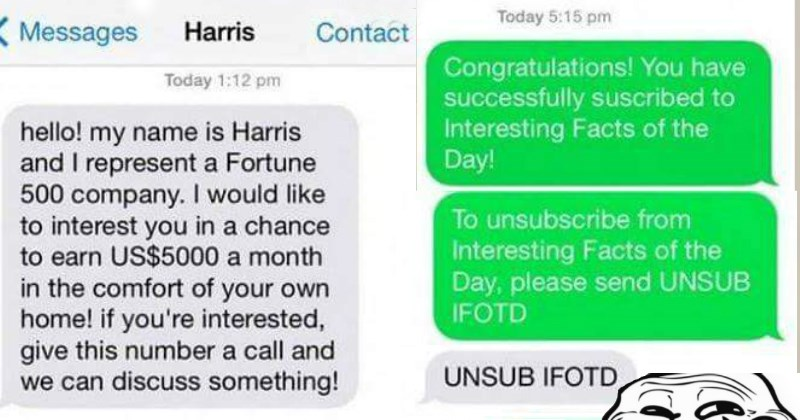 Hero Trolls the Sh*t Out of A Scammer When He Receives a Fraudulent Text Message