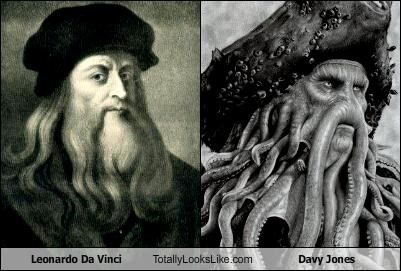 Leonardo Da Vinci Totally Looks Like Davy Jones - Cheezburger ... acfdf8af667b