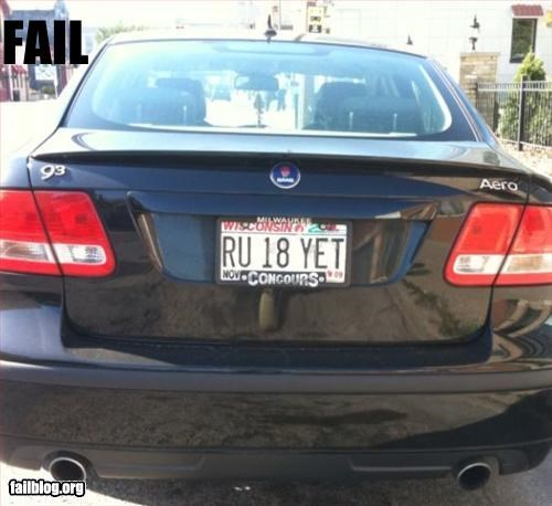 cars g rated license plate underage vanity plate - 2593823488