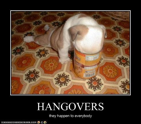 HANGOVERS they happen to everybody