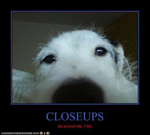 CLOSEUPS dis is knot rite. FAIL