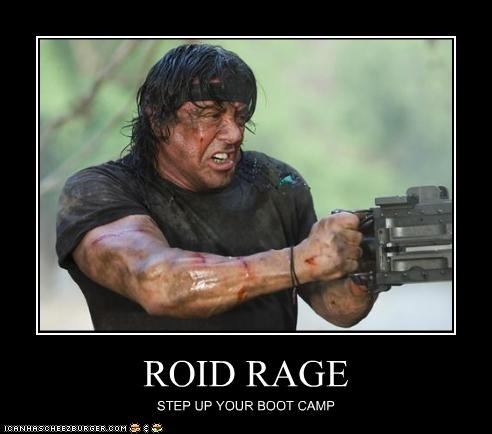 ROID RAGE STEP UP YOUR BOOT CAMP