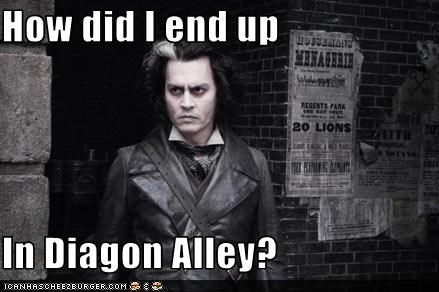 diagon alley,Harry Potter,Johnny Depp,movies,sci fi,Sweeney Todd