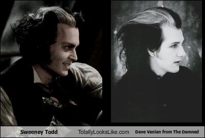 dave vanian,Johnny Depp,musician,sweeny todd,the damned