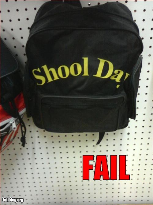 backpack g rated misspelling school - 2601983232