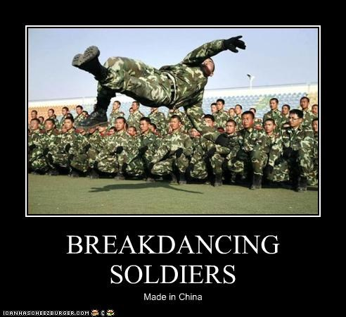 BREAKDANCING SOLDIERS Made in China