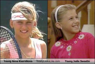 actress,anna kournikova,athlete,full house,jodie sweetin,tennis,TV