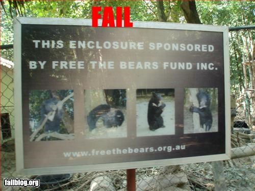 bears cage free g rated sponsor zoo - 2607032576