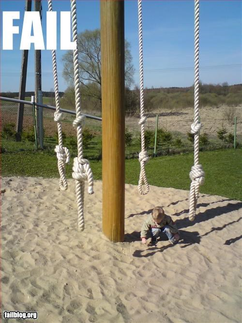 gallows g rated noose playground swings - 2608938496
