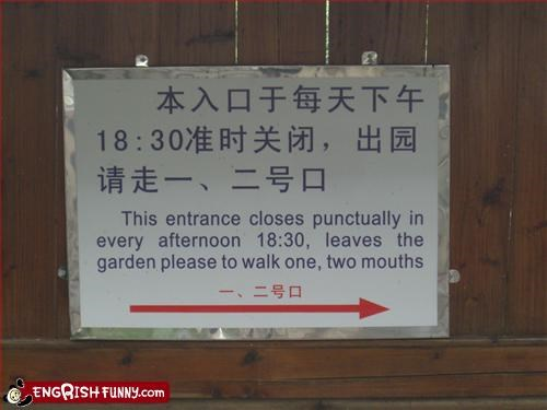 afternoon,entrance,garden,g rated,mouths,signs