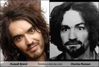 Russell Brand Totally Looks Like Charles Manson