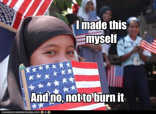 American Flag,muslim