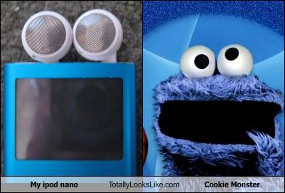 Cookie Monster ipod mp3 player muppets - 2612936960