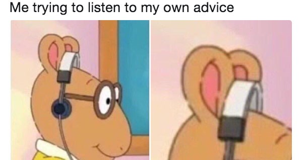Collection of funny memes featuring PBS's Arthur wearing his headphones wrong to make fun of people regarding Soundcloud and also video game companies.