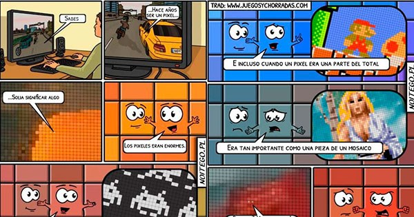comic sobre los pixeles