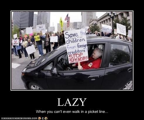 driving,lazy,picket line,protesters