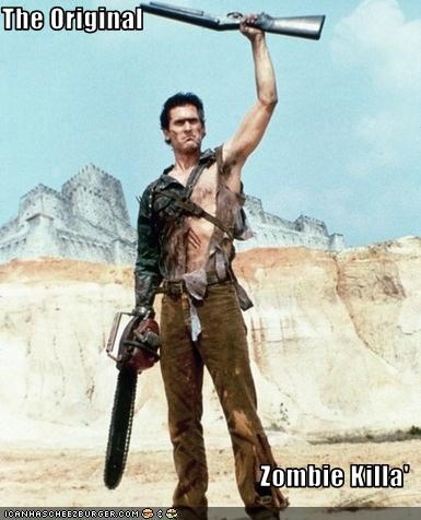 army of darkness boomstick bruce campbell zombie - 2618206976